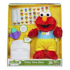 amazon com sesame street playskool potty time elmo plush toy amazon com sesame street playskool potty time elmo plush toy toys games