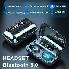 F9 <b>TWS</b> LED Display Mini <b>Wireless</b> Stereo <b>Bluetooth 5.0</b> Earphone ...