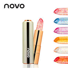 NOVO Brand <b>Jelly Flower</b> Gold foil Transparent Color Balm Lipstick ...