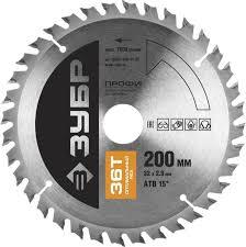 ЗУБР <b>Оптимальный</b> рез 200 х 30 мм 36Т, <b>диск пильный</b> по дереву ...
