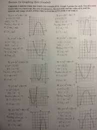 Uncategorized   Room     Room     Graphing Quadratics Review answers