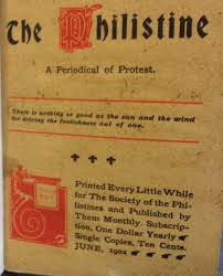 the philistine a periodical of protest off the shelf philistine cover