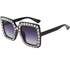 ROYAL GIRL Elton Square <b>Rhinestone Sunglasses Oversized</b>