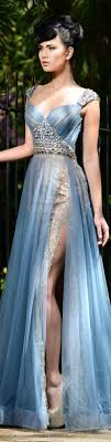 Fitted Bodice Dress White Prom Dresses Sparkle Evening Blue Gown Fitted Bodice And