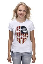 Футболка классическая <b>USA Anonymous</b> #1205468 – заказать ...