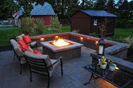 square patio stone fire