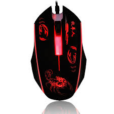 USB Wired Mouse 2400DPI <b>3 Buttons Optical</b> Gaming Mouse 7 ...