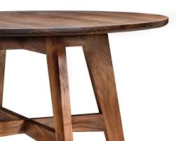 walnut cherry dining: the klamath dining table is a clean modern design perfect for dining in small spaces it is round and available in cherry walnut oak or maple