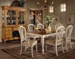 chair dining room tables rustic chairs: white vintage rustic dining room table and chairs with hutch