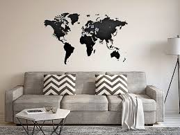 Amazon.com: GREAT WORLD MAP WOODEN <b>DECORATION</b> FOR ...