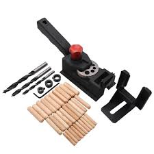 『ALO』  <b>38pcs</b> DIY <b>Woodworking Locator</b> Pocket Hole Cutter <b>Drill</b> ...