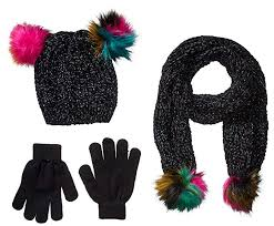 Spotted Zebra Girl's 3-Piece Sweater Cold Weather <b>Hat</b>, <b>Scarf</b> and ...