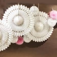 <b>10pcs</b>/set Snowflake <b>Tissue</b> Paper Fans Cut out Paper Decoration ...