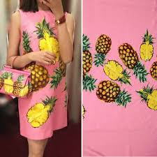 1 meter sicily style pineapple thick jacquard fabric, women dress ...
