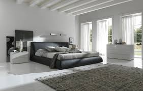 white bedroom with black bed white furniture big black bed with white furniture
