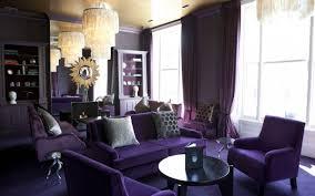 Purple Living Room Design Decorating With Purple