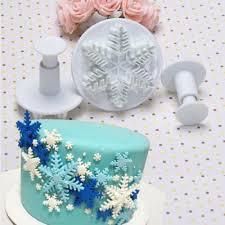 Wedding Party <b>Snowflake</b> Fondant Cake Decorating <b>Plunger 3Pcs</b> ...