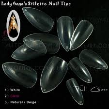 professionalism tips promotion shop for promotional 100pcs lady gaga s full cover false salon nail tips professional french clear stiletto fake nail tips shipping