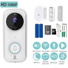 <b>Wireless Video Doorbell,1080P HD</b> WiFi Security Camera Doorbell ...