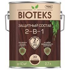 Антисептик <b>Текс Bioteks</b> 2-в-1 декоративный для дерева махагон ...
