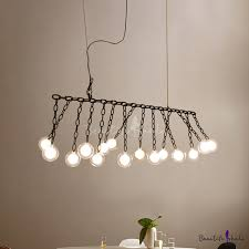 <b>LED</b> Accent Lights Multi Head <b>Glass Ball LED Chandeliers</b> Black ...