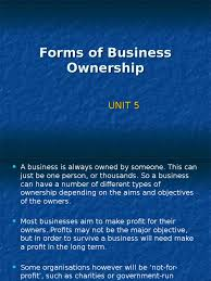 forms of business ownership unit docshare tips