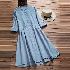 Cotton <b>2019</b> Dress Women <b>Long</b> Sleeve Elegant <b>Autumn Linen</b> Shirt ...
