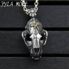 <b>S925 sterling</b> silver jewelry inlaid copper Dragon Skull Pendant ...