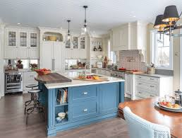 Small Picture 45 Blue and White Kitchen Design Ideas blue cabinet blue and