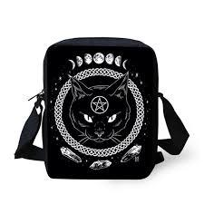 <b>ELVISWORDS Women Messenger</b> Bags Gothic Moon Phase ...