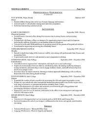 sample resume college student finance student resume example internship sample resume for college students easy resume college sample resume