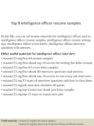 top8intelligenceofficerresumesamples 150515025936 lva1 app6892 thumbnail 4 jpg cb 1431658821