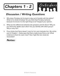 images about the outsiders   resources on pinterest   the    the outsiders   chapter summaries  pre reading activities   amp  writing discussion questions