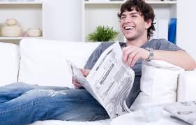 Image result for pictures of person reading newspapers