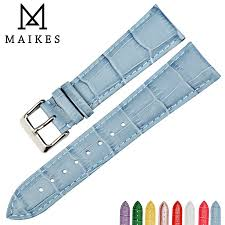 <b>MAIKES New watch accessories</b> wristband watch bands cow leather ...