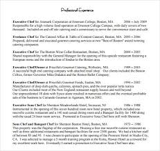 chef resume     free samples  examples  formatexecutive chef resume