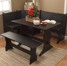 black kitchen dining sets: black kitchen dining room wood corner breakfast nook table amp bench chair pc set