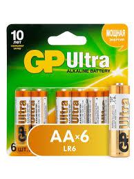 <b>Комплект из алкалиновых батареек</b> GP Ultra Alkaline AA, 6 шт ...