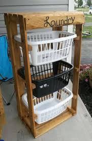 turn pallets into a laundry basket holderthese are the best diy pallet antique unique pallet ideas
