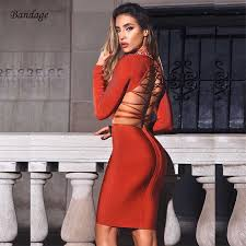 New Winter <b>Hollow Out Halter Backless</b> Cutout Bodycon Bandage ...