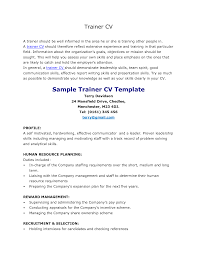 resume for personal trainer   template   templateresume for personal trainer