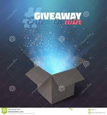 vector box giveaway competition template stock vector image vector box giveaway competition template