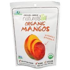 Natierra Nature's All , <b>Organic Freeze-Dried</b>, <b>Mango</b>, <b>1.5</b> oz (42.5 g ...