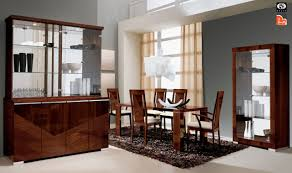 Dining Room Sets 6 Chairs Home Capri Italian Modern Dining Table Set Table And 6 Chairs