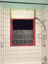 bathroom vent block installing glass block in a shower