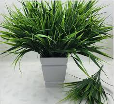<b>2016 New 7-fork Green</b> Grass Artificial Plants For Plastic Flowers ...