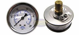 New <b>Stainless</b> Steel Liquid Filled Pressure GAUGE WOG <b>Water Oil</b> ...