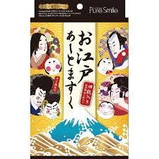 <b>SUN SMILE</b> Pure Smile Edo Art mask 4 sheets Face <b>Essence</b> Mask ...