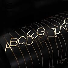 <b>Wholesale</b> Gold/Silver 26 Letter <b>Necklaces</b> Collier Female Alphabet ...