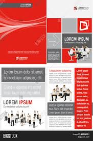 red white and black template for advertising brochure red white and black template for advertising brochure business people
